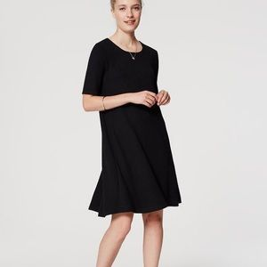 LOFT swing dress in black